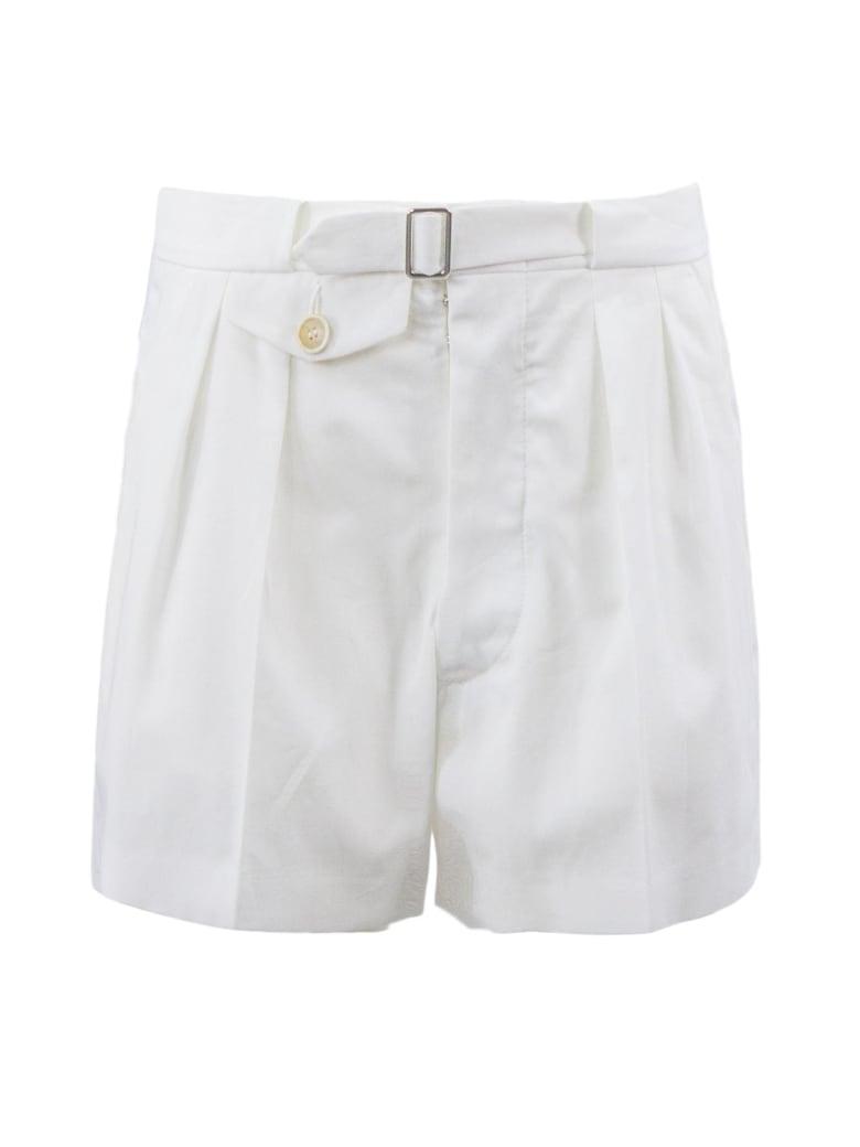 Maison Margiela White Cotton Shorts - Bianco