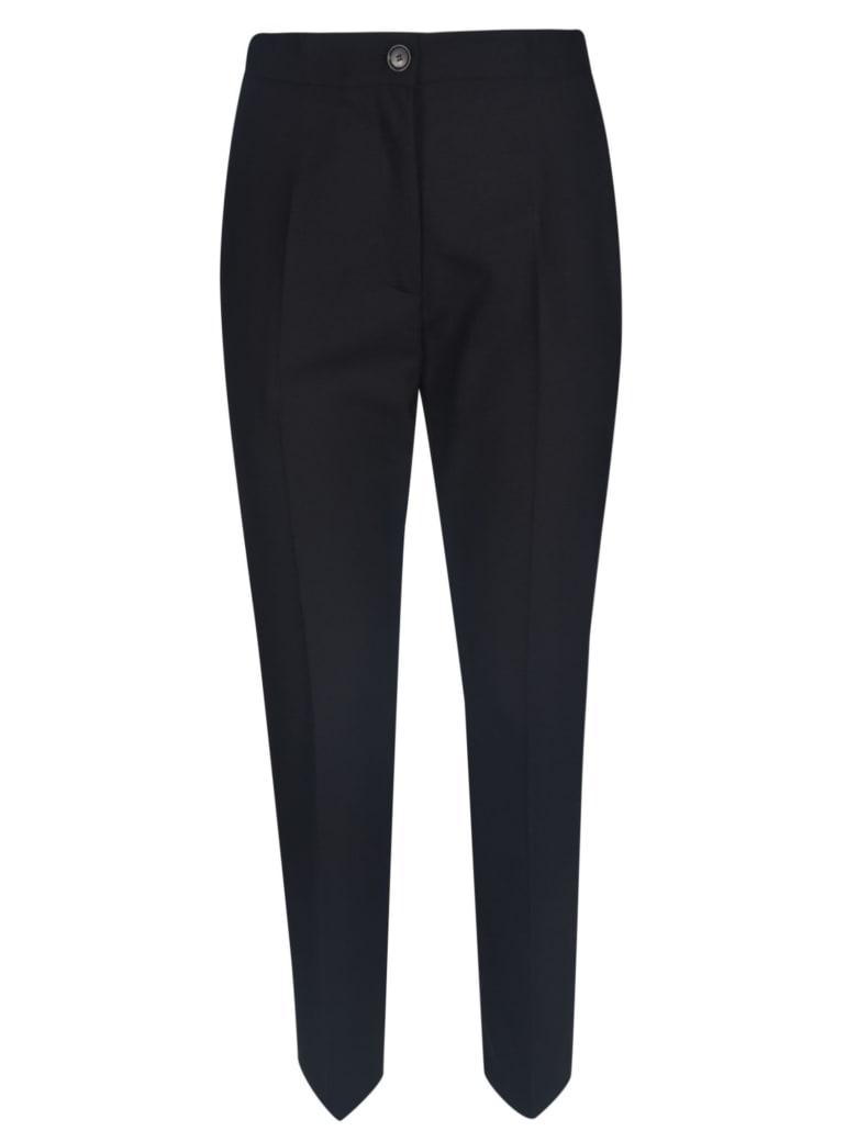 Erika Cavallini Wide Buttoned Trousers - Black