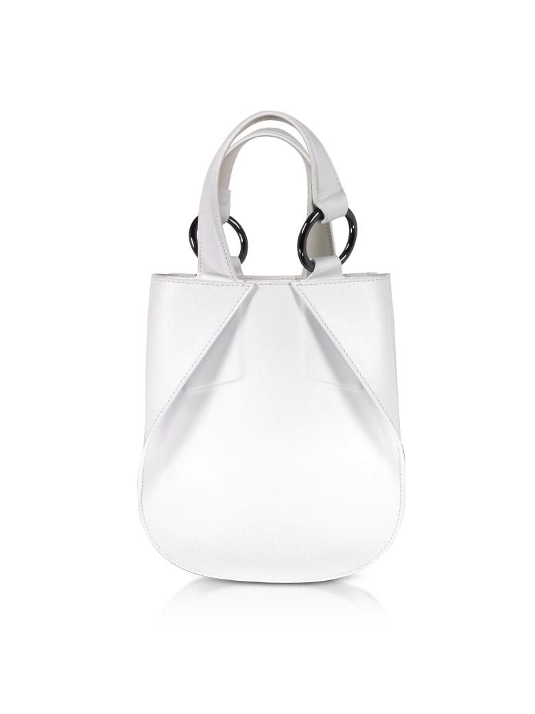 Giaquinto Joss Mini Leather Satchel Bag - White