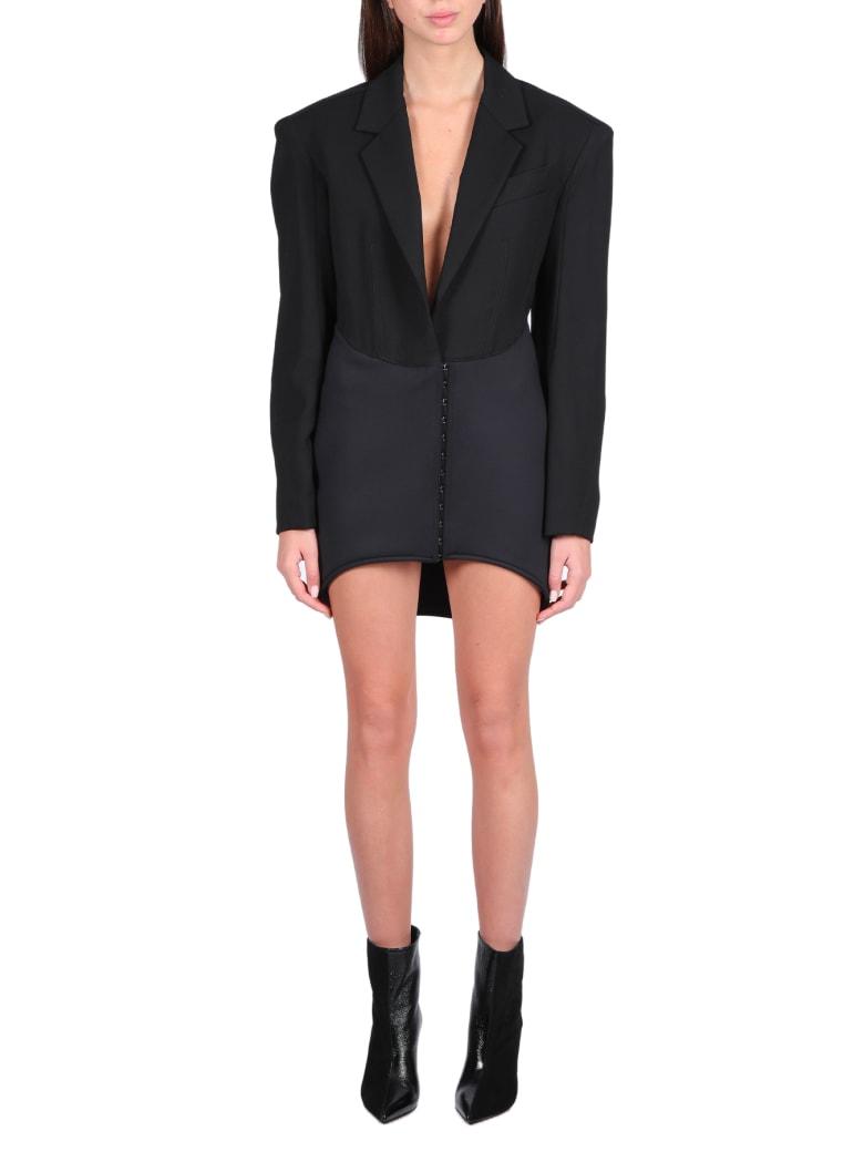 Thierry Mugler Blazer/dress With Shoulder Pads - Nero