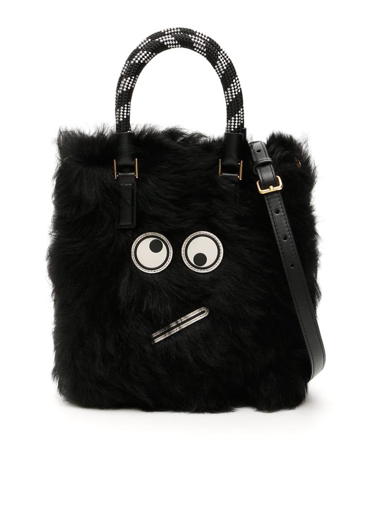 Anya Hindmarch Amused Face Small Bag - BLACK (Black)