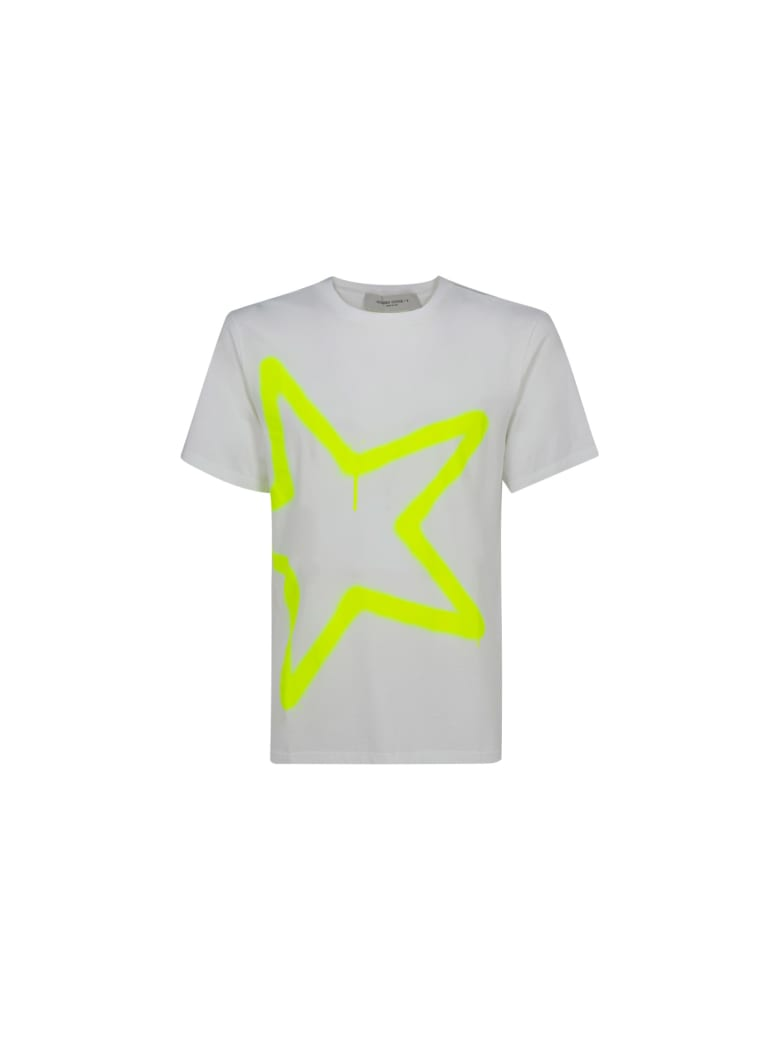 Golden Goose T-shirt - White/yellow fluo