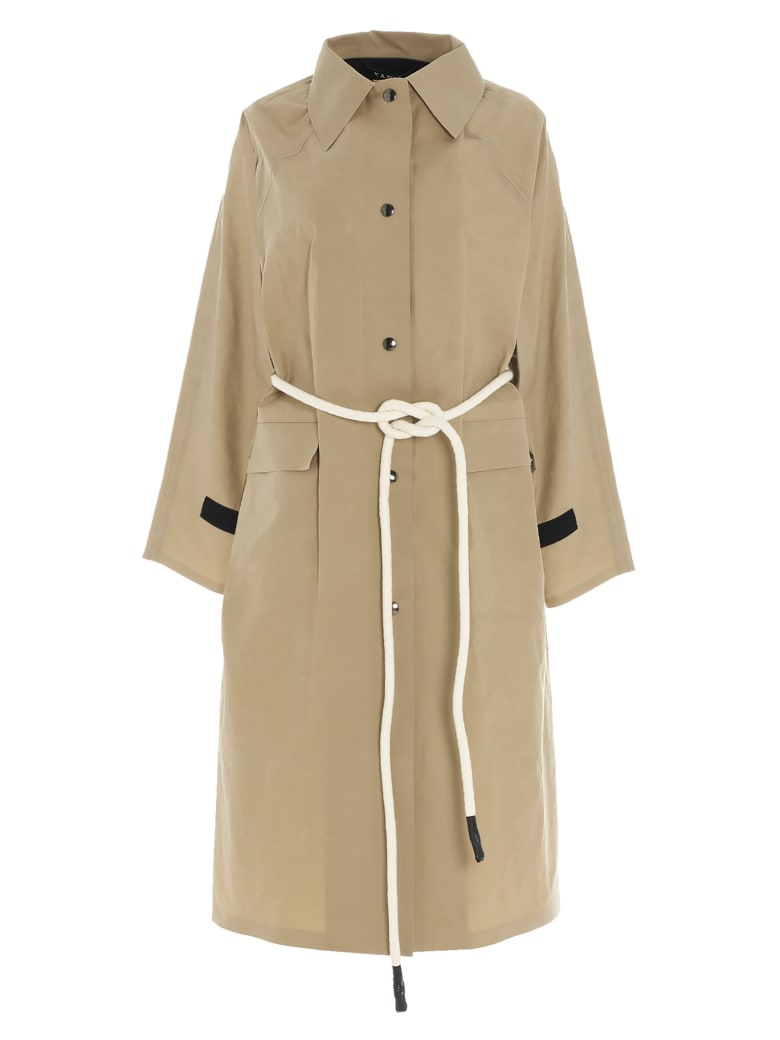 KASSL Editions 'original Below Wax Matte' Coat - Beige