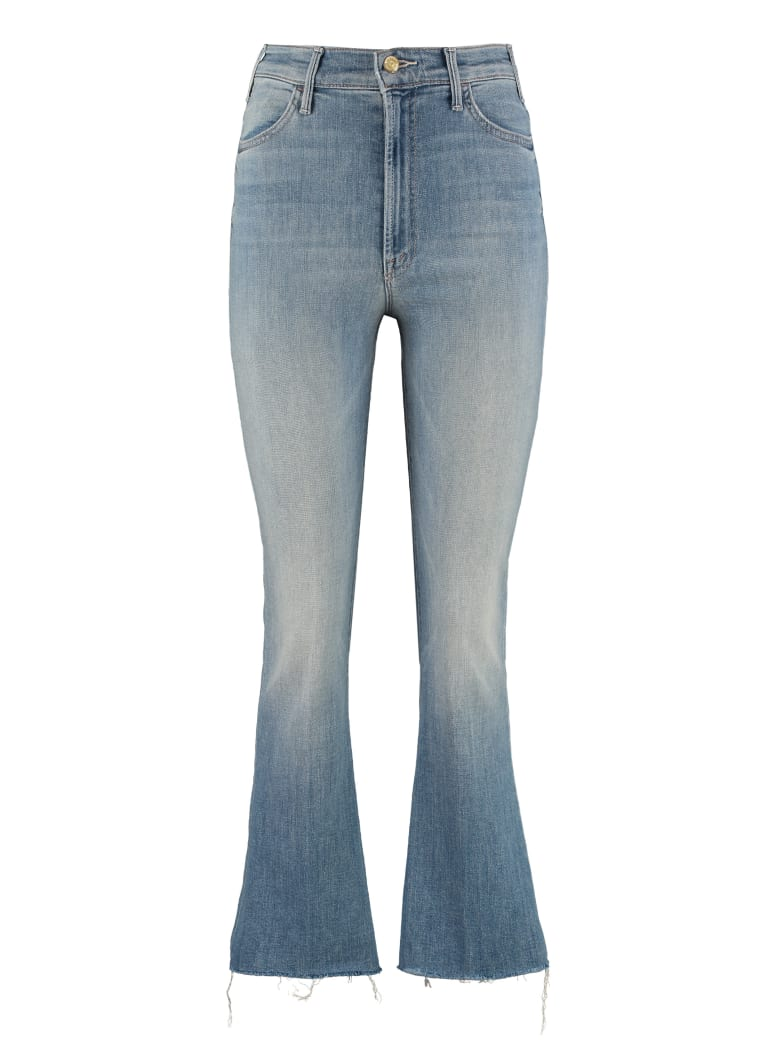 Mother The Ustler Ankle Fray Jeans - Denim