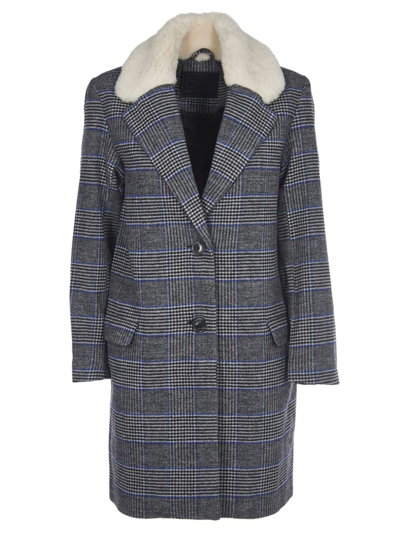 Levi's Checkered Wool Coat - Grey