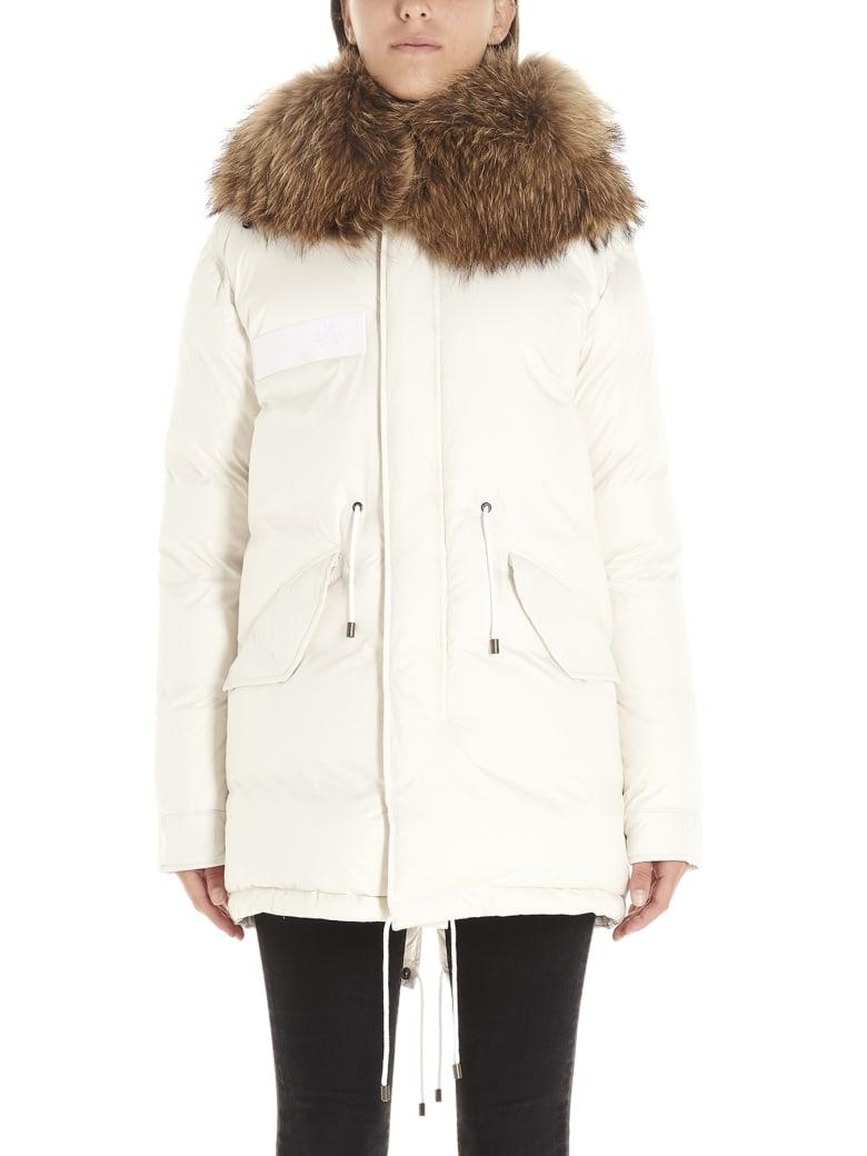 Mr & Mrs Italy 'parka Puffer' Jacket - White