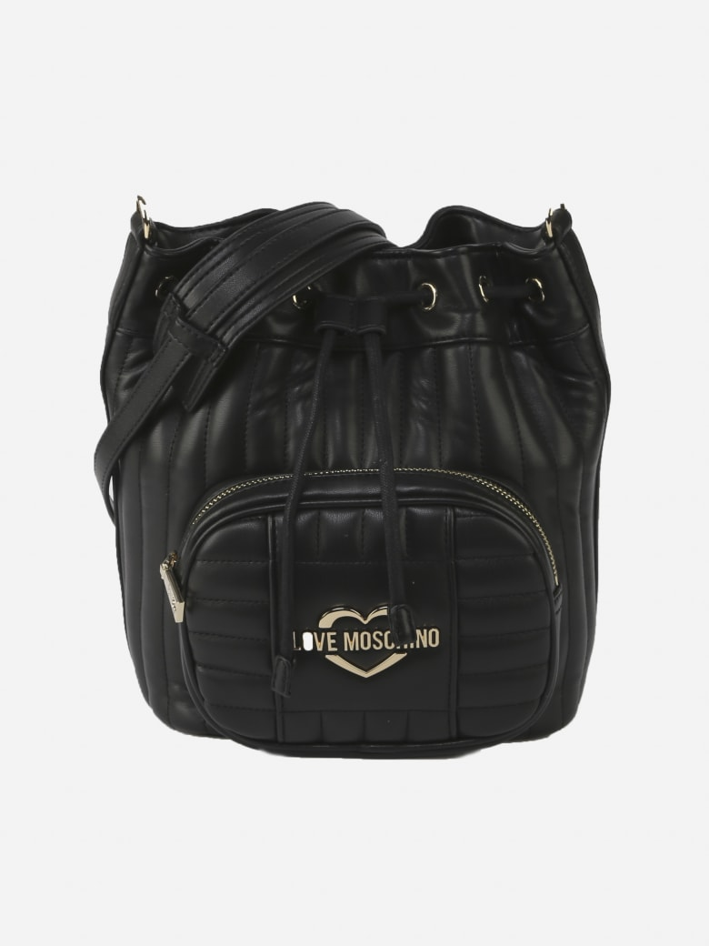 Love Moschino Shoulder Bag With Logo Detail - Black