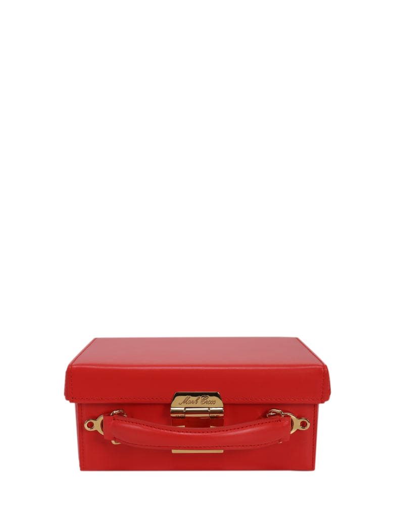 Mark Cross Red Grace Small Box Bag - Red