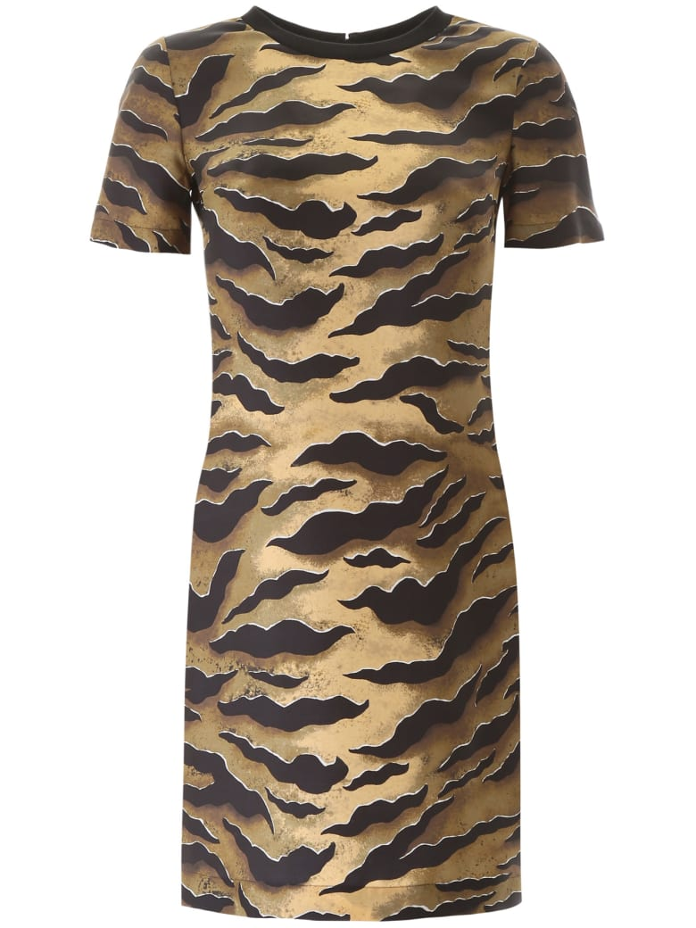Dsquared2 Tiger Print Blouse - BROWN (Beige)