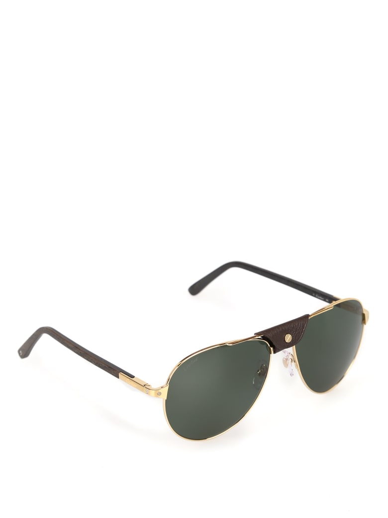 Cartier Eyewear CT0096S Sunglasses - -gold-gold-green