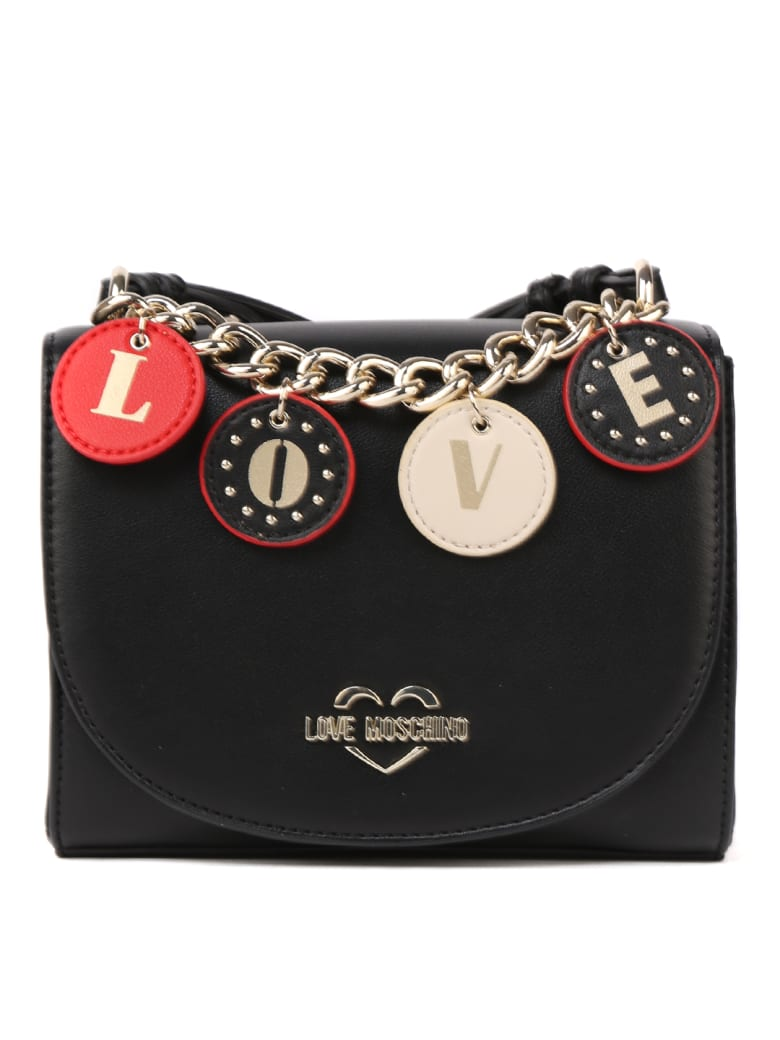 Love Moschino Black Love Pendant Bag - Black