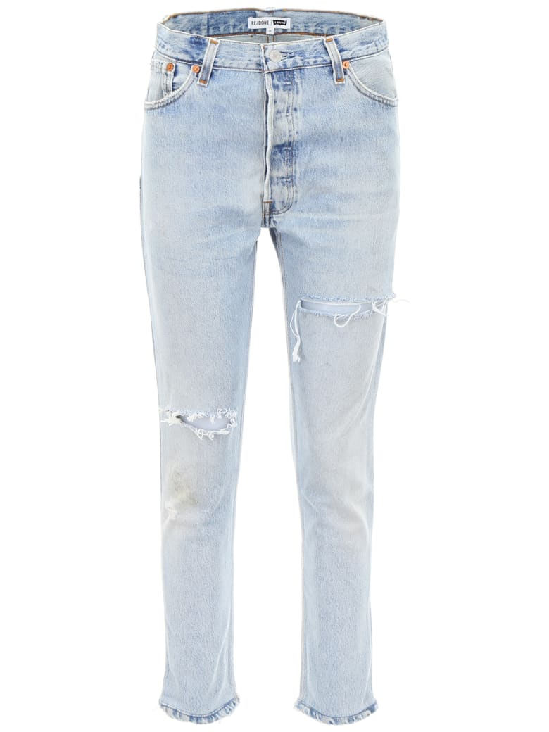 RE/DONE High Rise Jeans - INDIGO (Light blue)