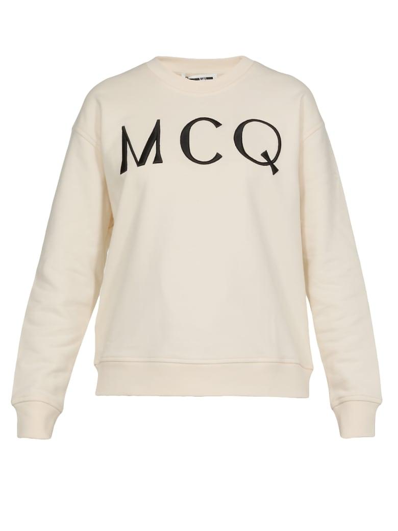 McQ Alexander McQueen Logo Sweatshirt - OYSTER