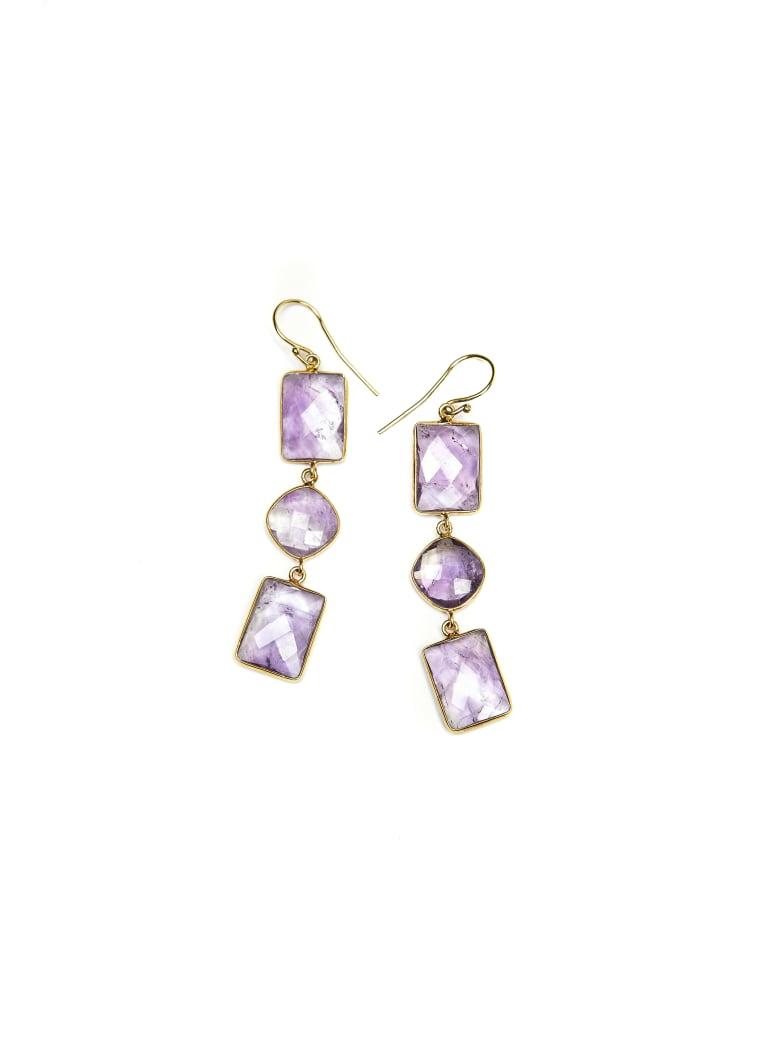 Bianca Baykam Crystal Detail Earrings - Viola