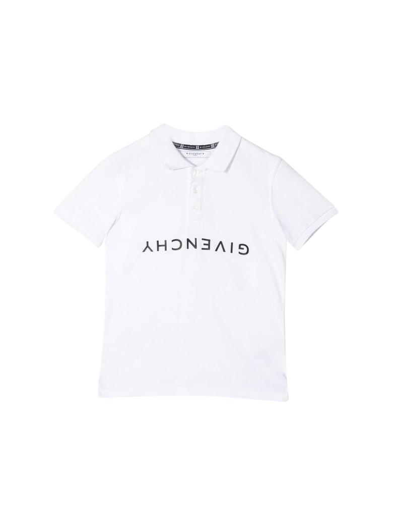 Givenchy Kids Printed Polo - Bianco