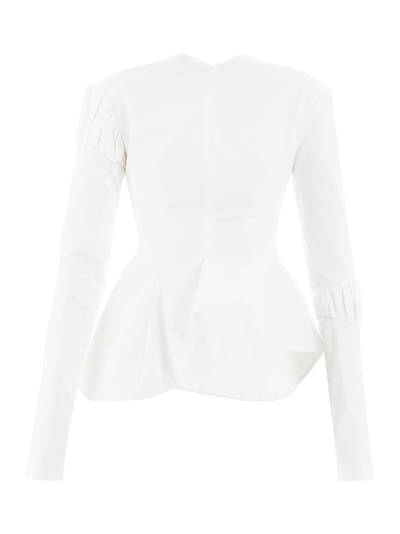 A.W.A.K.E. Mode Peplum Top - OFF WHITE (White)