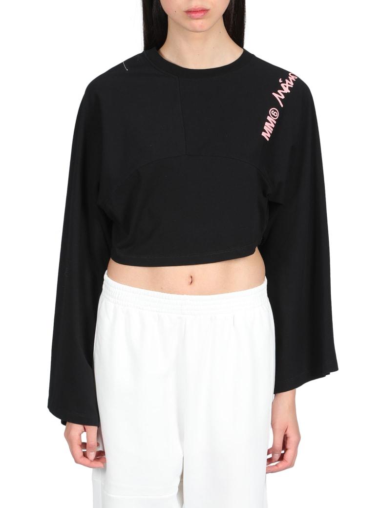 MM6 Maison Margiela Basic Cotton T-shirt - Nero
