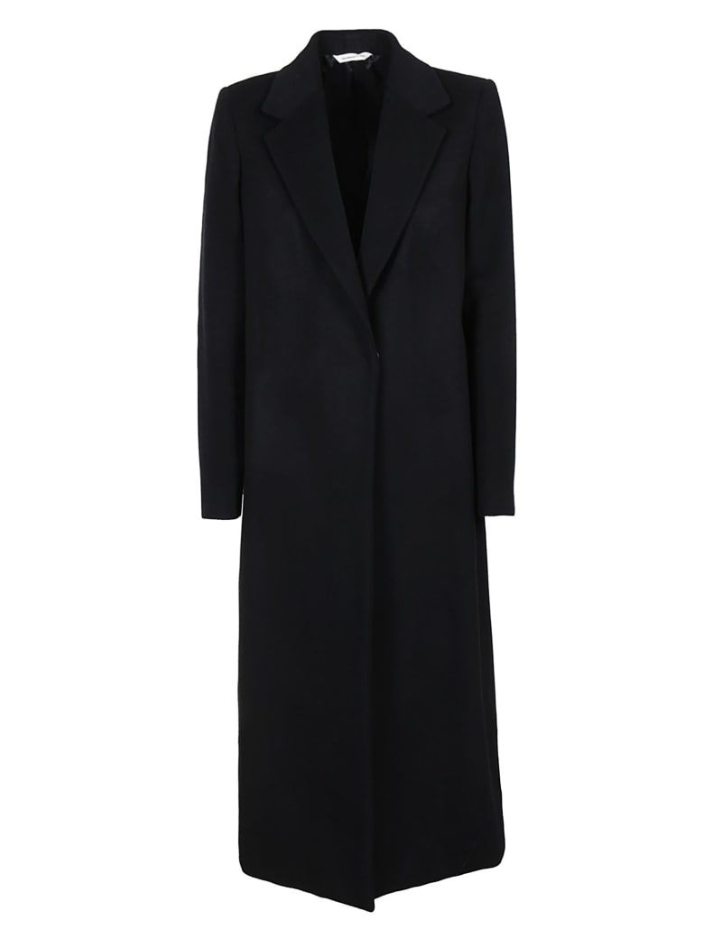 Tonello Single Breasted Long Coat - Dark Blue