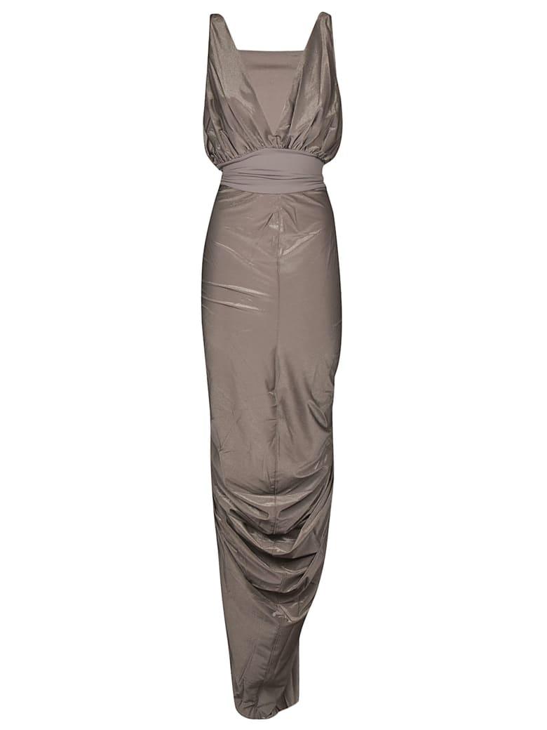 Rick Owens Lilies Sleeveless Gown Dress - Dust