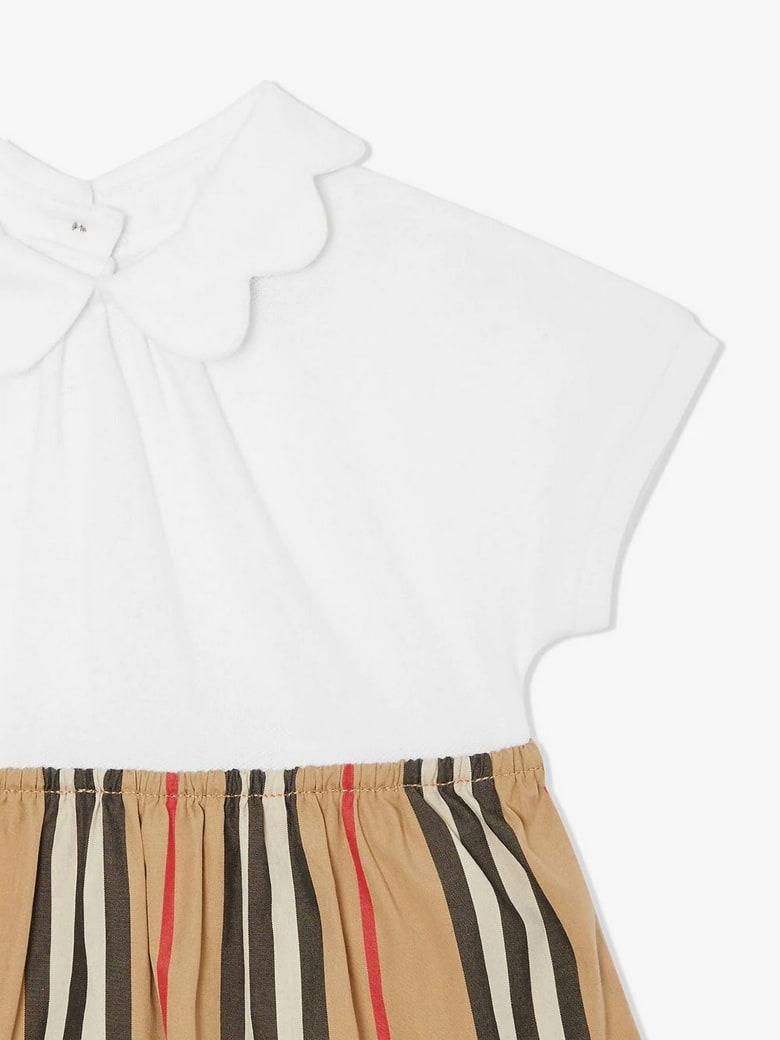 Burberry White Stretch-cotton Body Dress - Check