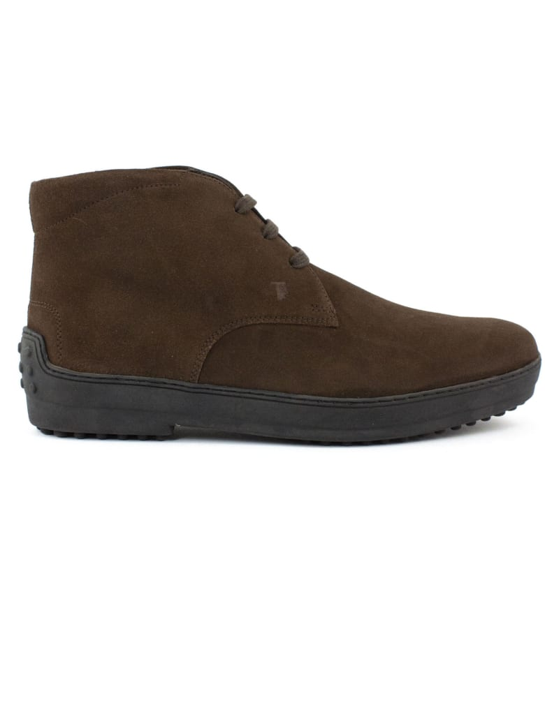 Tod's Desert Boots In Brown Suede - Testa Di Moro