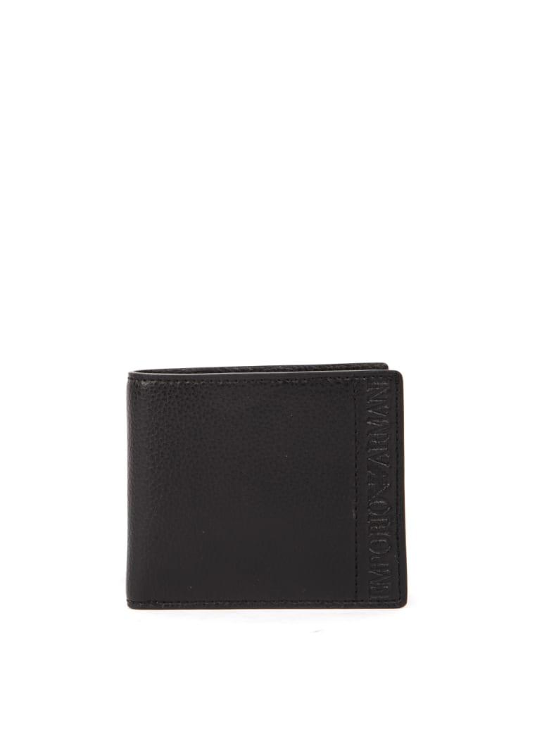 Emporio Armani Black Faux Leather Wallet - Black