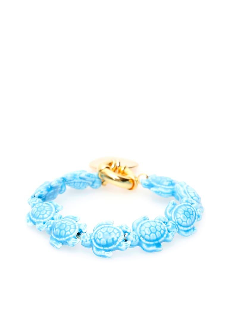 Timeless Pearly Turtles Bracelet - VARIANTE ABBINATA (Light blue)