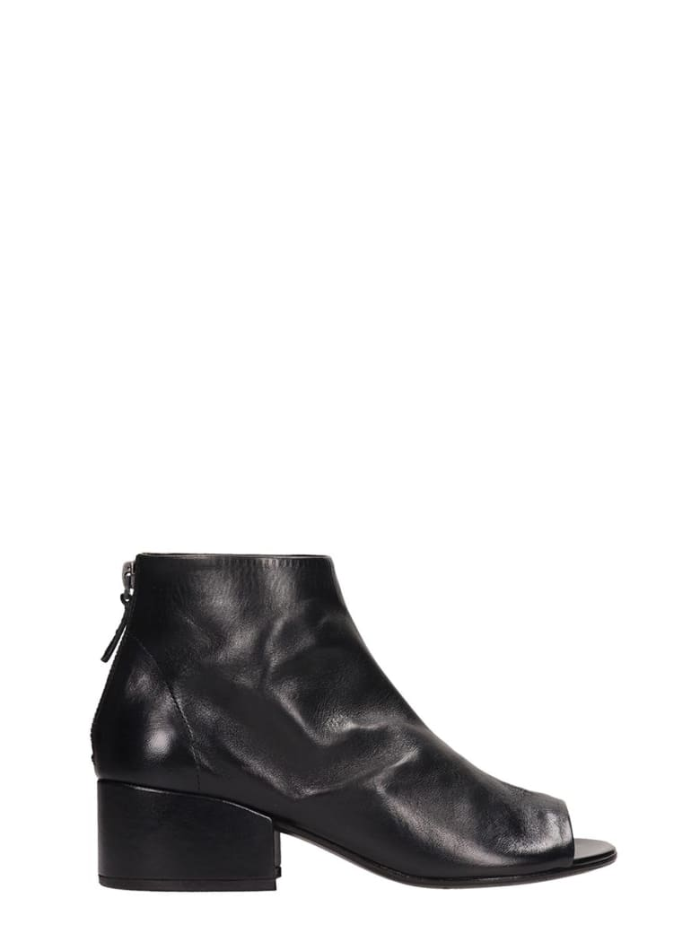 Marsell Black Leather Cubeto Ankle Boots - black