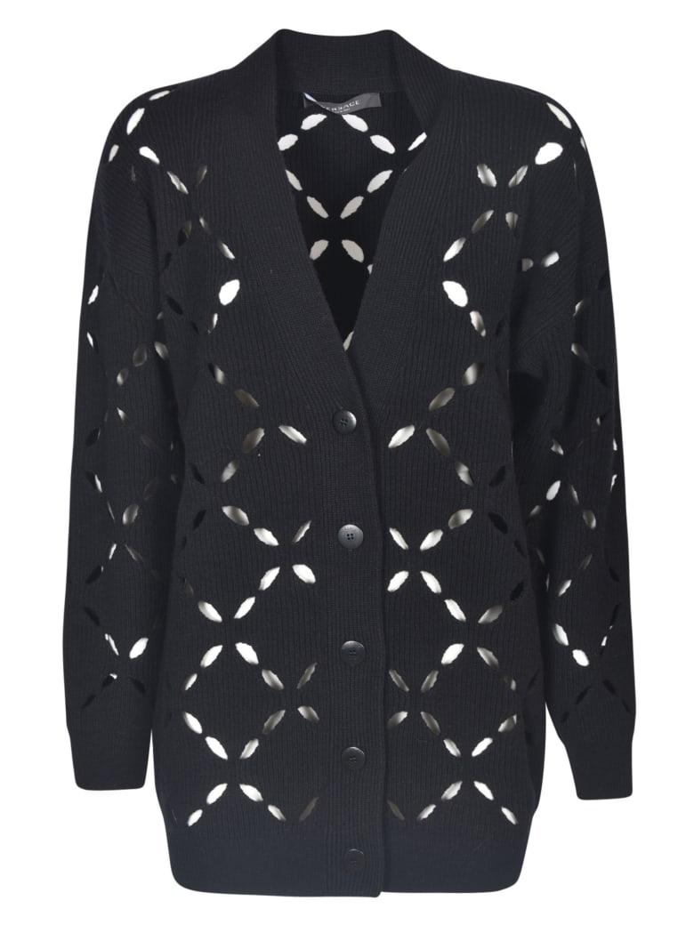 Versace Perforated Cardigan - Nera