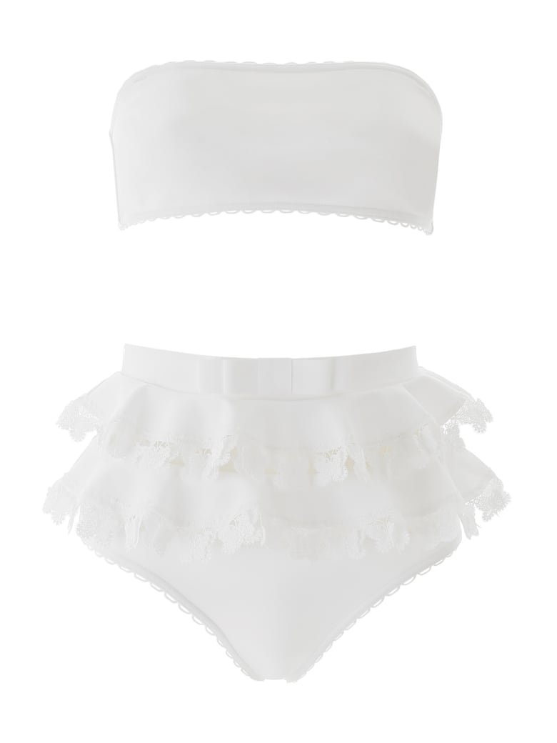 Zimmermann Bikini With Lace - IVORY (White)