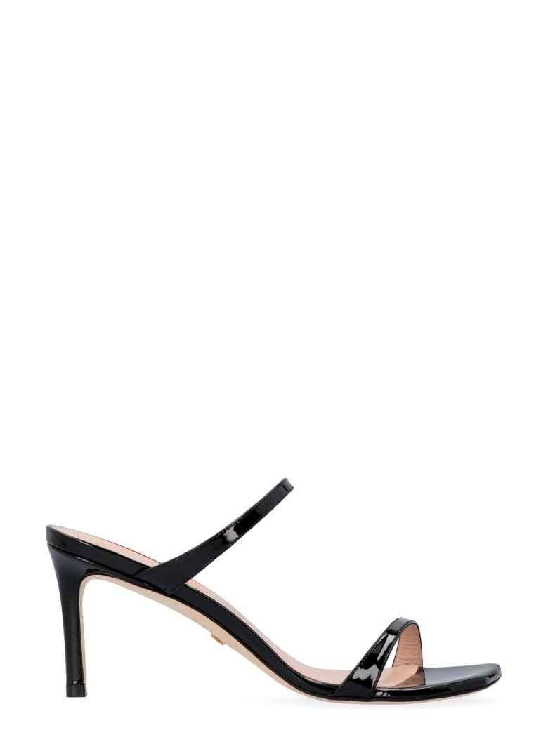 Stuart Weitzman Aleena Patent Leather Sandals - black