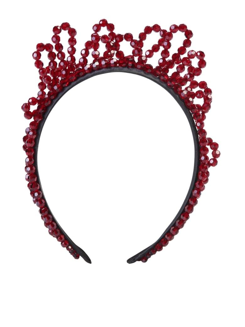 Simone Rocha Embellished Headband - Red