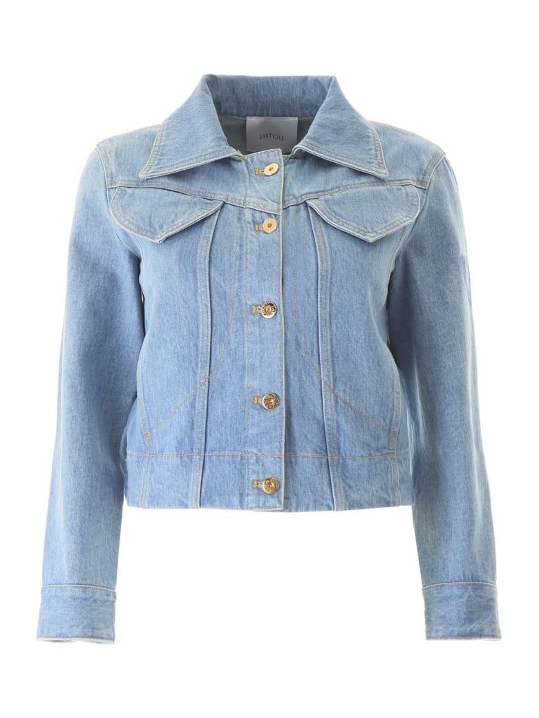 Patou Iconic Denim Shape Jacket - BLUEBERRY (Light blue)
