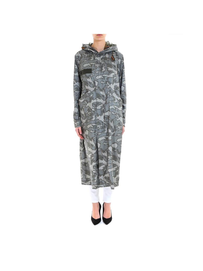 Mr & Mrs Italy Woman Long Parka Raincoat - Green