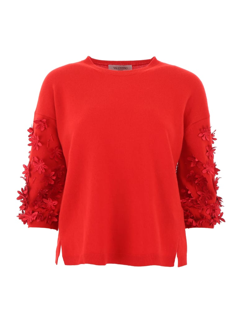 Valentino Embellished Pullover - ROSSO (Red)