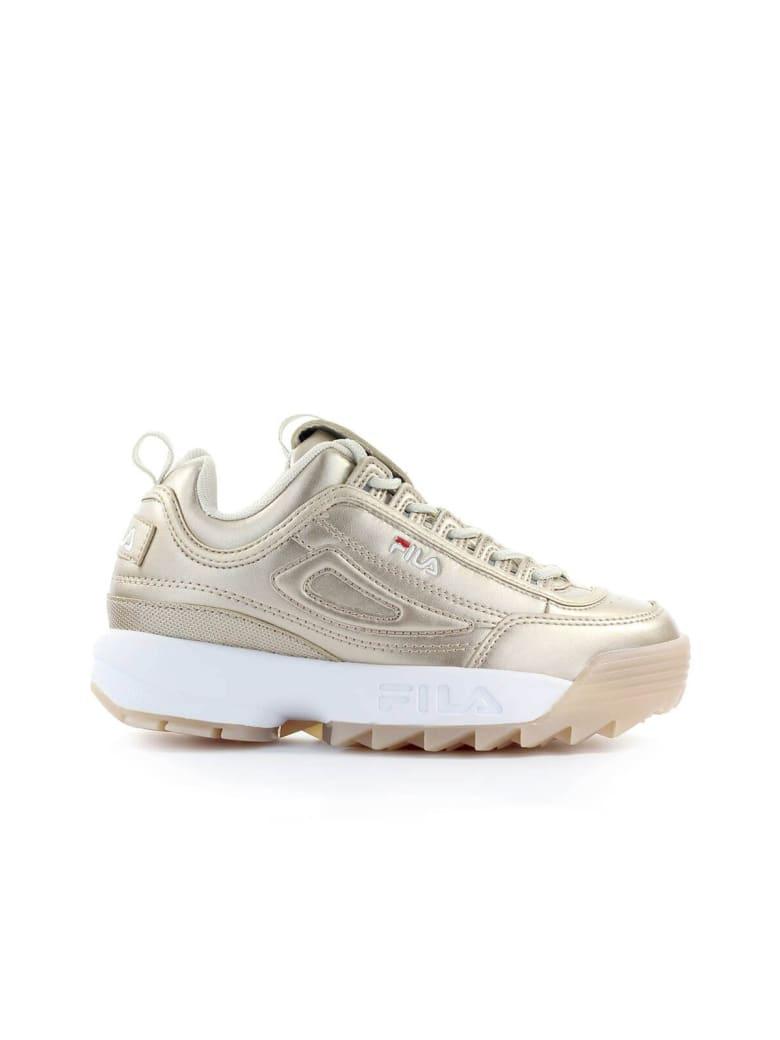 Best price on the market at italist   Fila Fila Disruptor M Low Wmn Gold Sneaker