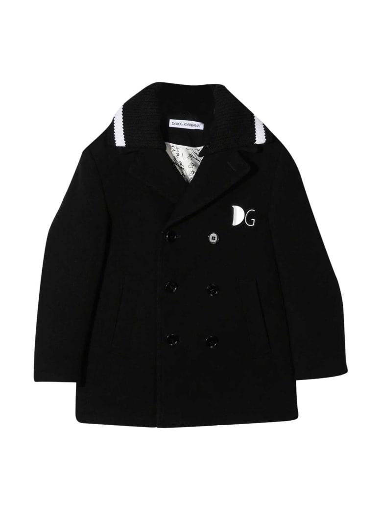Dolce & Gabbana Black Coat - Nero