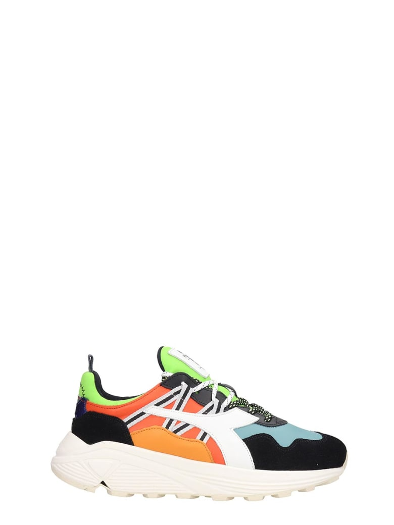 Diadora Rave Sneakers In Multicolor Leather And Fabric - multicolor