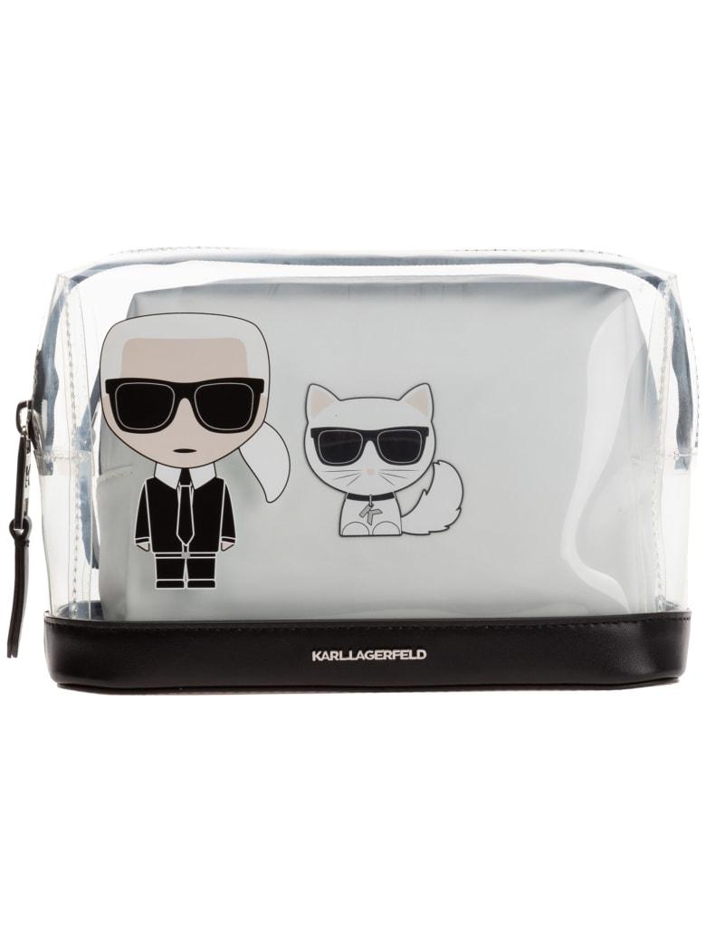 Karl Lagerfeld K/ikonik Toiletry Bag - Nero