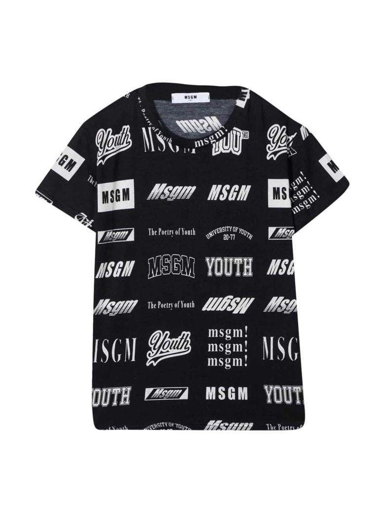 MSGM Black T-shirt - Unica