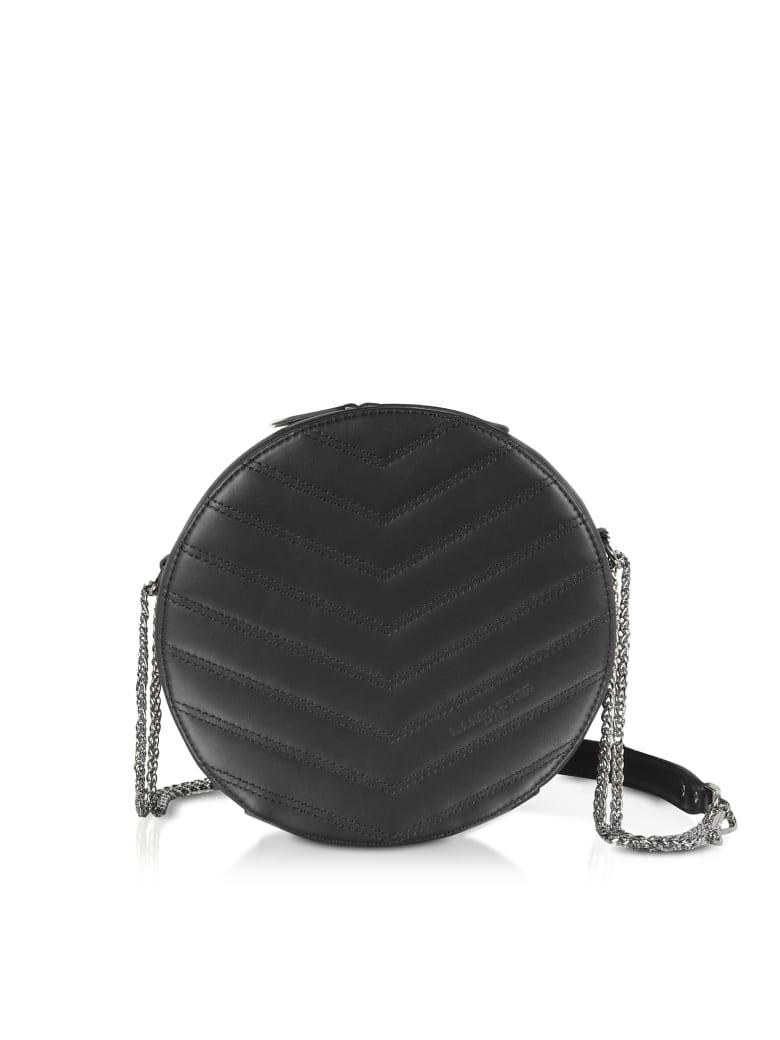 Lancaster Paris Parisienne Quilted Leather Round Crossbody Bag - Black