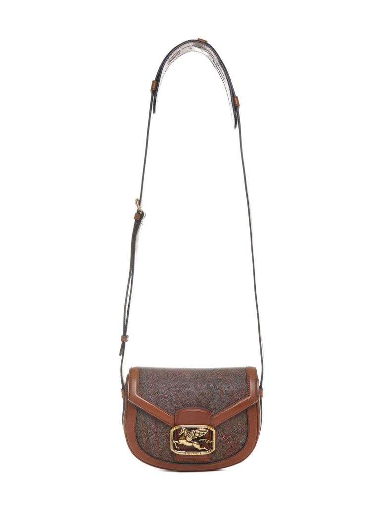 Etro Paisley Pegaso Shoulder Bag - Brown