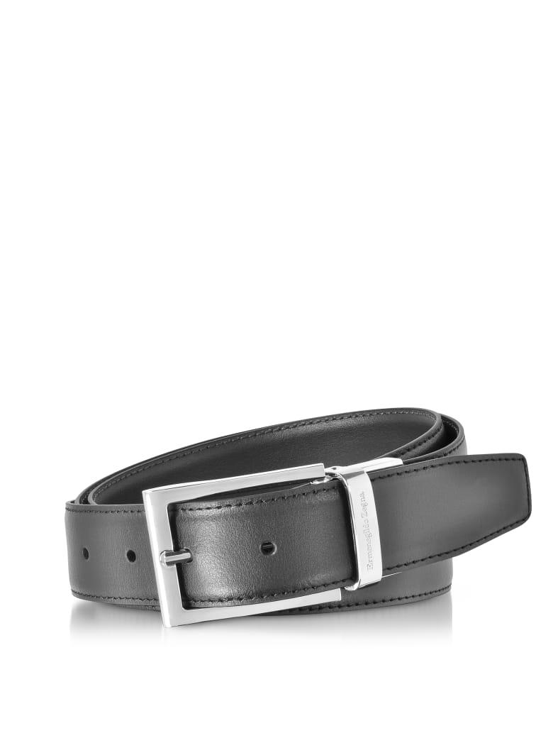 5f4c1eb59e Ermenegildo Zegna Black/dark Brown Smooth Leather Reversible And Adjustable  Belt