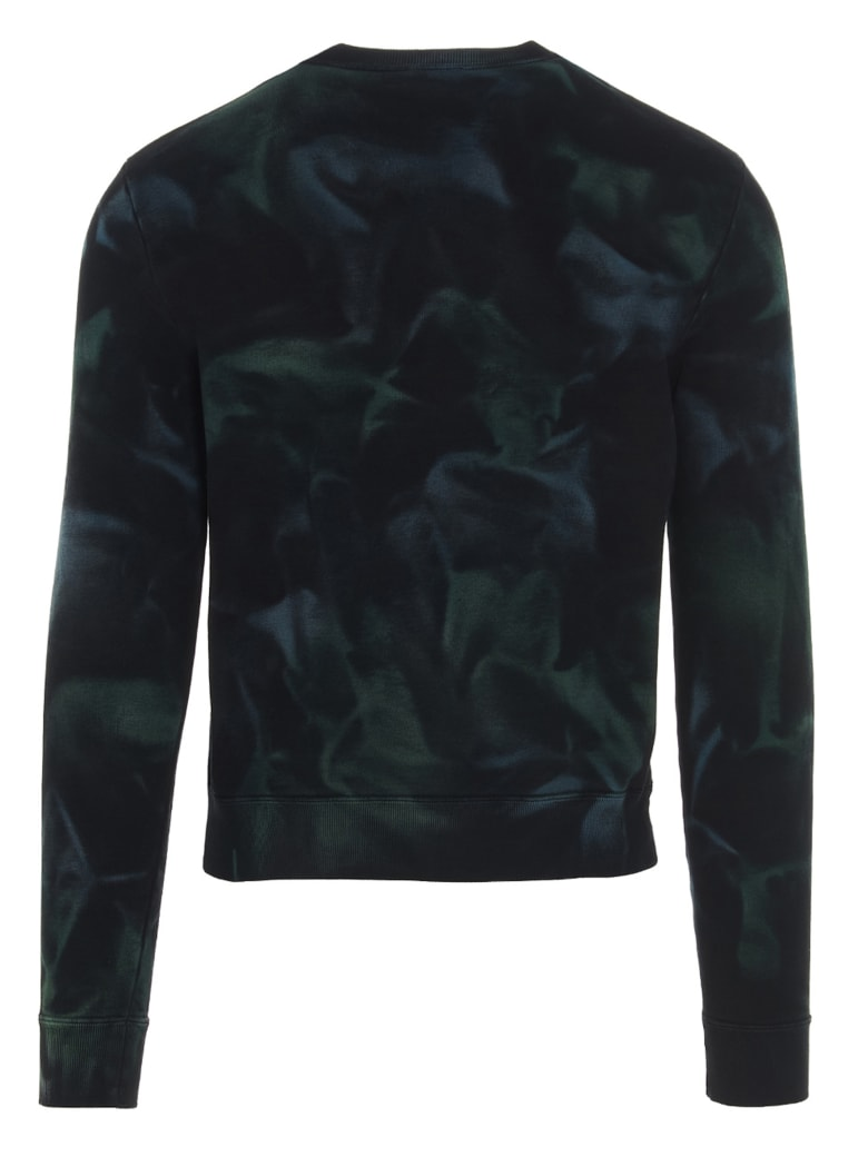 Saint Laurent 'jungle Tie-dye' Sweatshirt - Verde