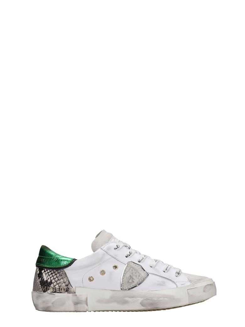 Philippe Model Prsx L Sneakers In White Leather - white