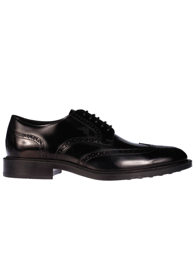Tod's Perforated Derby Shoes - Nero