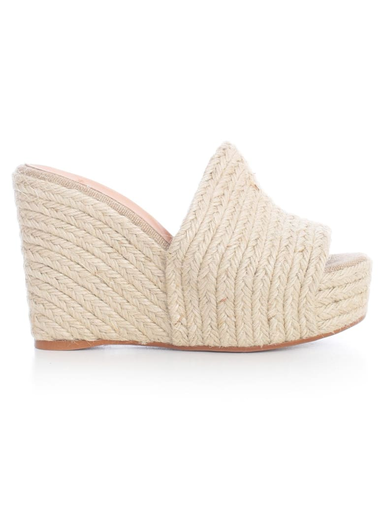 Castañer Jana High Slippers Yuta - Natural