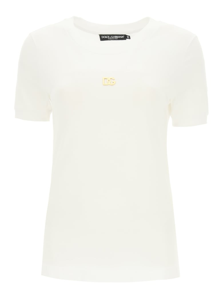Dolce & Gabbana T-shirt With Metallic Dg Logo