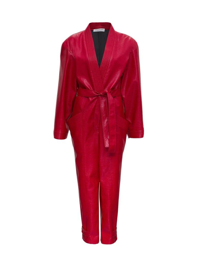 Philosophy di Lorenzo Serafini Leatheret Suit - Red
