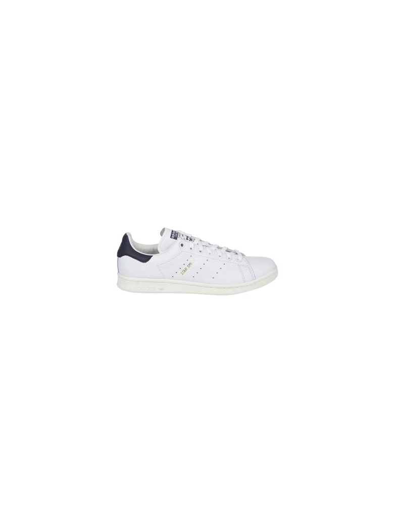 Adidas Originals White And Blue Stan Smith Sneakers - white